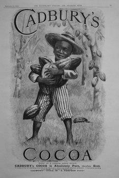 Cadbury's Cocoa. September 8th 1900.