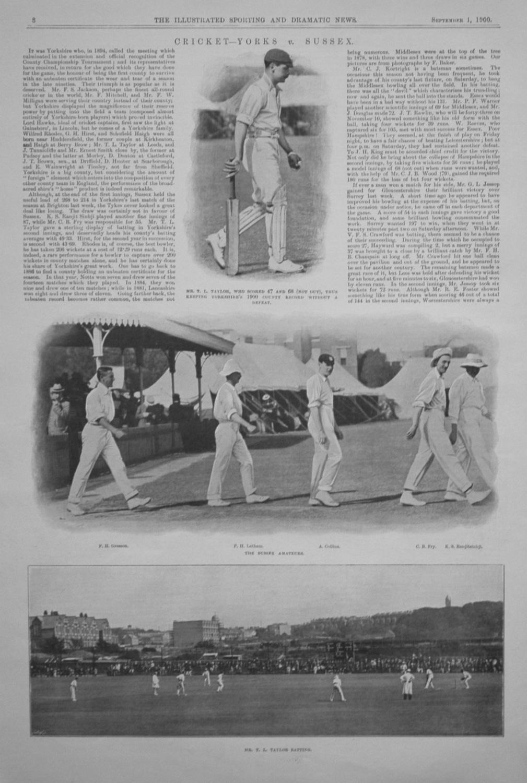 Cricket - Yorks v. Sussex.