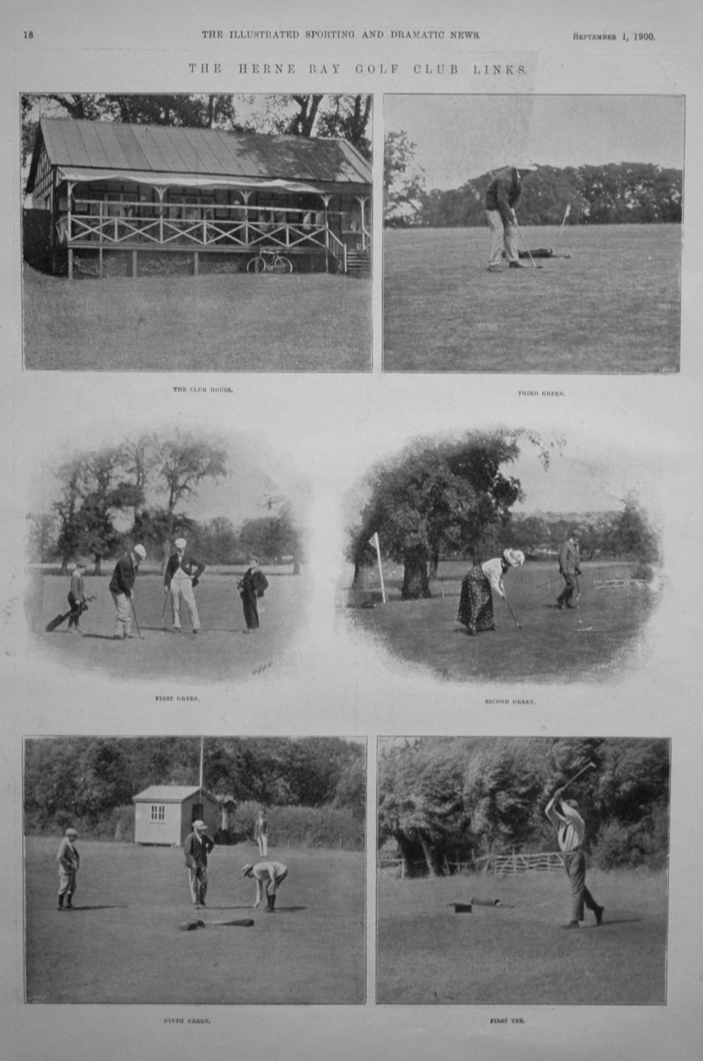 The Herne Bay Golf Club Links. 1900