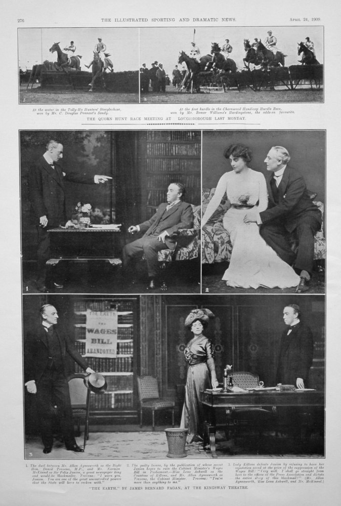 """""""The Earth."""" by James Bernard Fagan, at the Kingsway Theatre. 1909"""