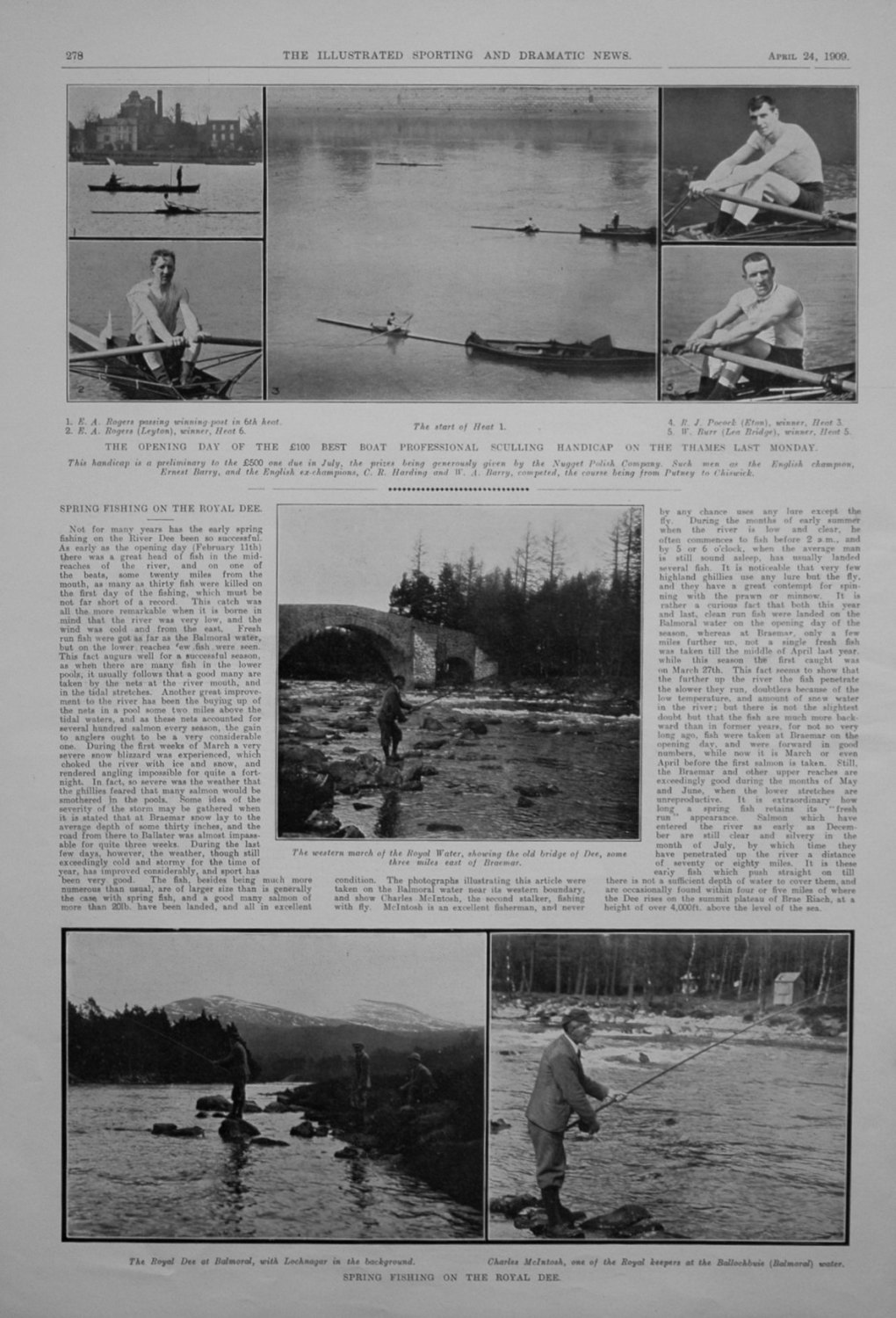 Spring Fishing on the River Dee. 1909