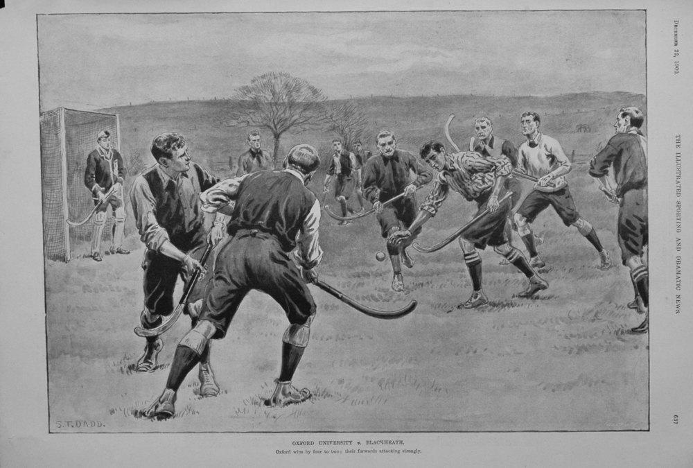 Oxford University v. Blackheath. 1900.  (Hockey).