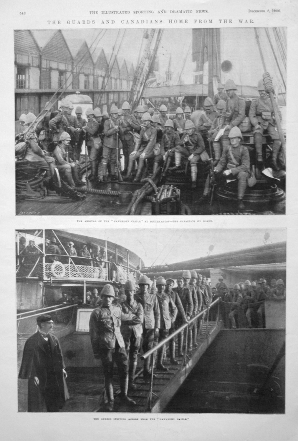 The Guards and Canadians Home from the War. 1900