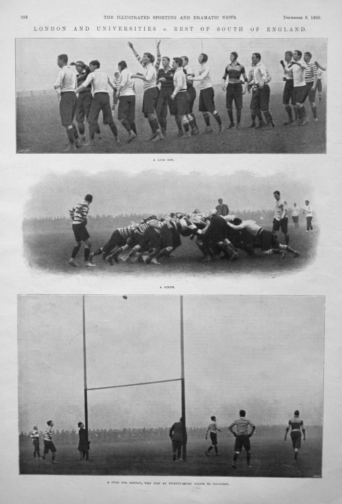 London and Universities v. Rest of South of England. 1900 (Rugby)