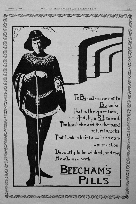 Beecham's Pills. 1900.