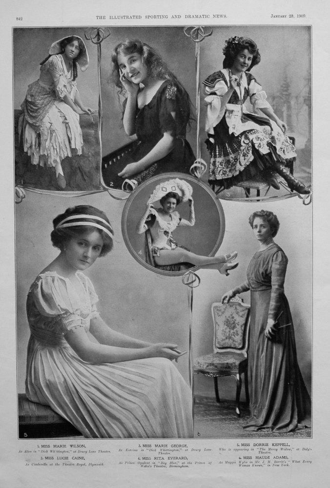 Actresses from the Stage January 1909.