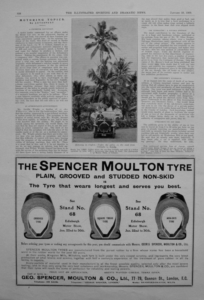 Motoring Topics, by Autosport. January 23rd 1909.