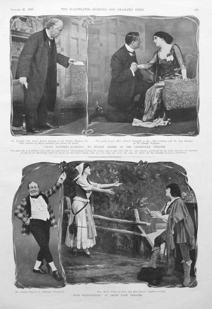 """Dick Whittington,"" at Drury Lane Theatre. 1909"