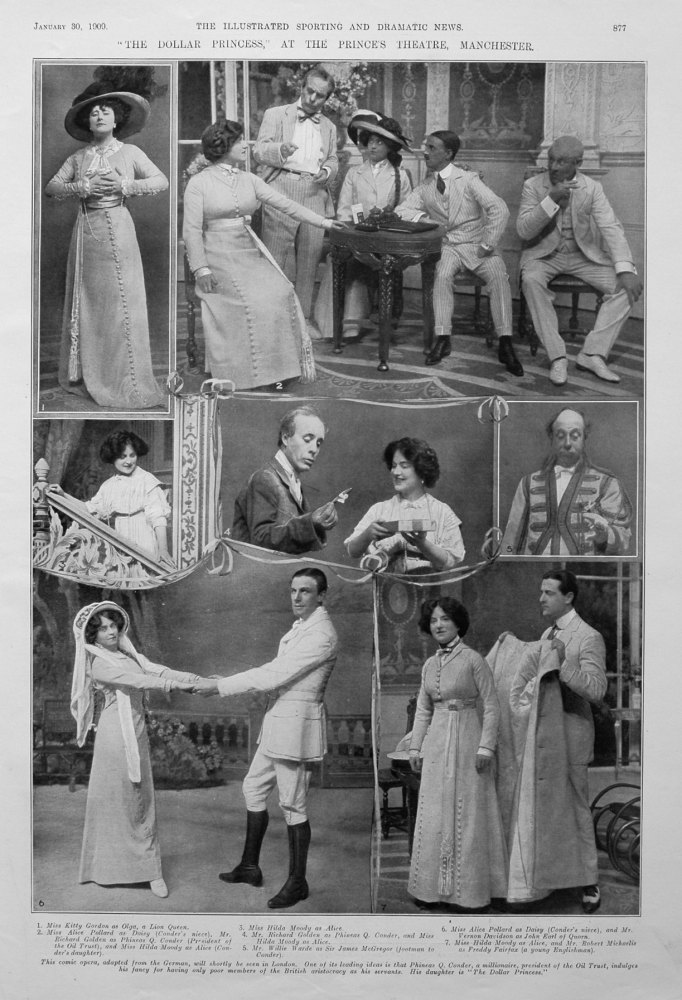 """The Dollar Princess,"" at the Prince's Theatre, Manchester. 1909"