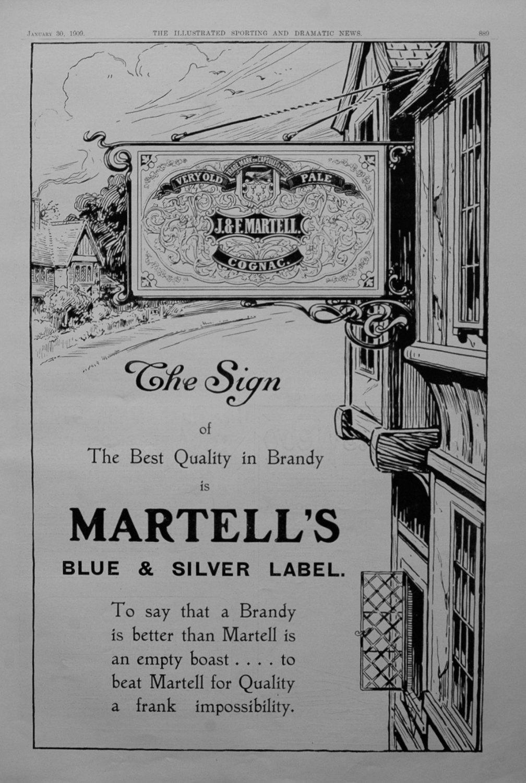 Martell's Brandy.