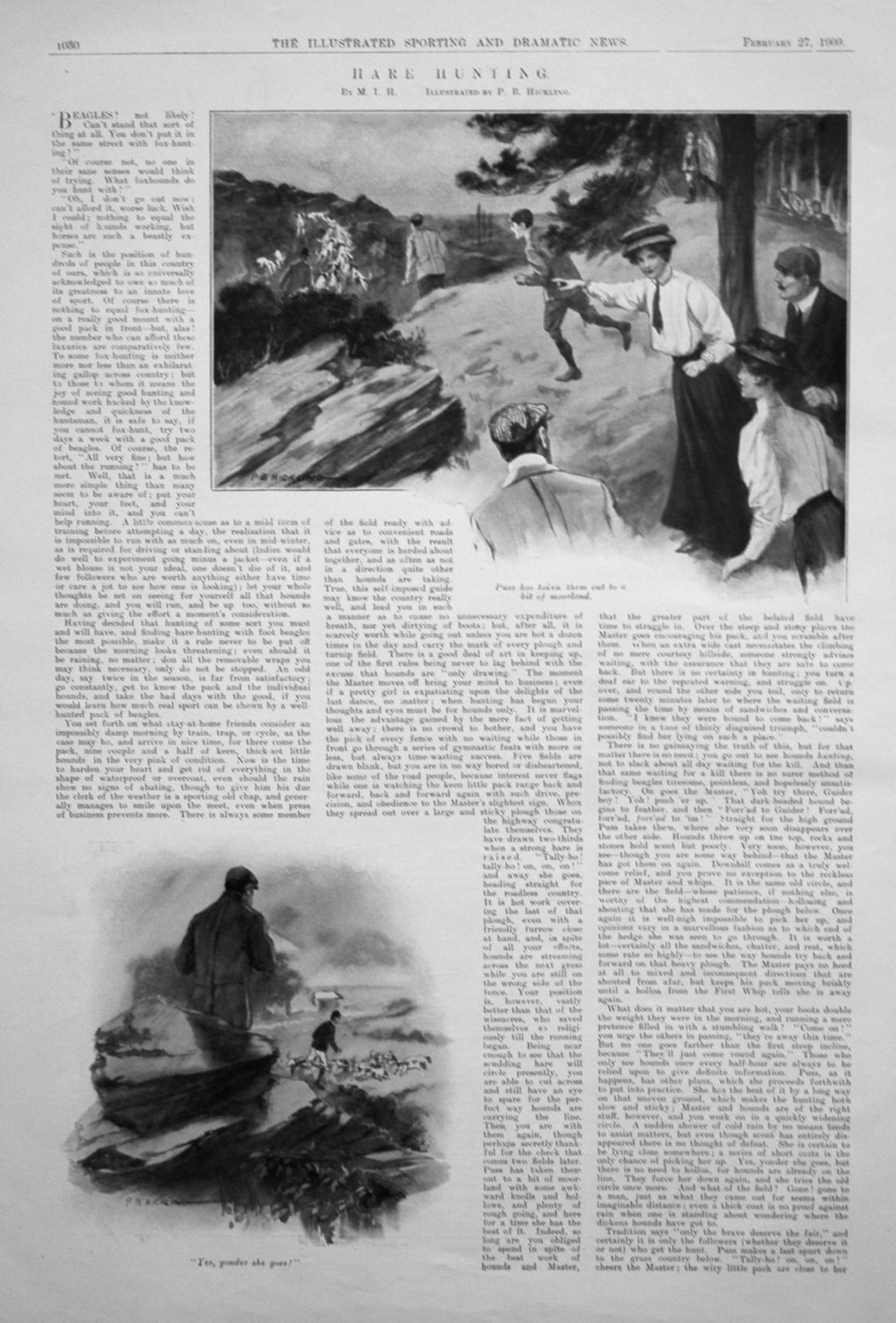 Hare Hunting. By M.I.H. 1909