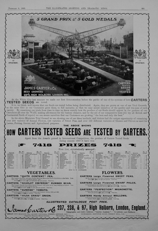 James Carter & Co. 1909