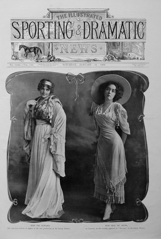 Miss Joe Howard and Miss May De Souse. 1909