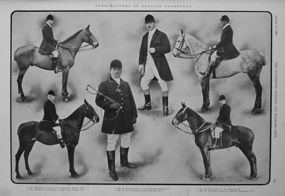 Some Masters of English Foxhounds. 1909