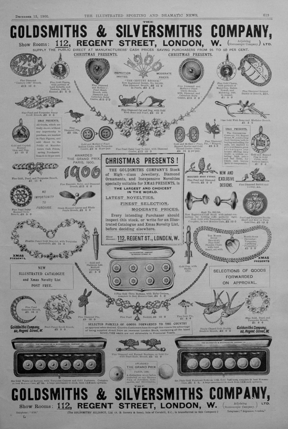 Goldsmiths & Silversmiths Company. December 15th 1900.