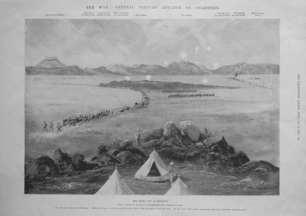 The War : General French's Advance on Colesberg.