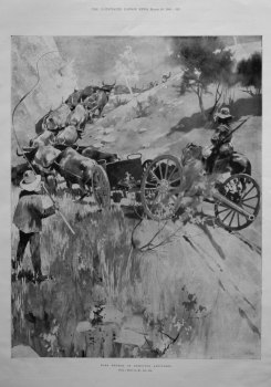 Boer Method of Removing Artillery. 1900