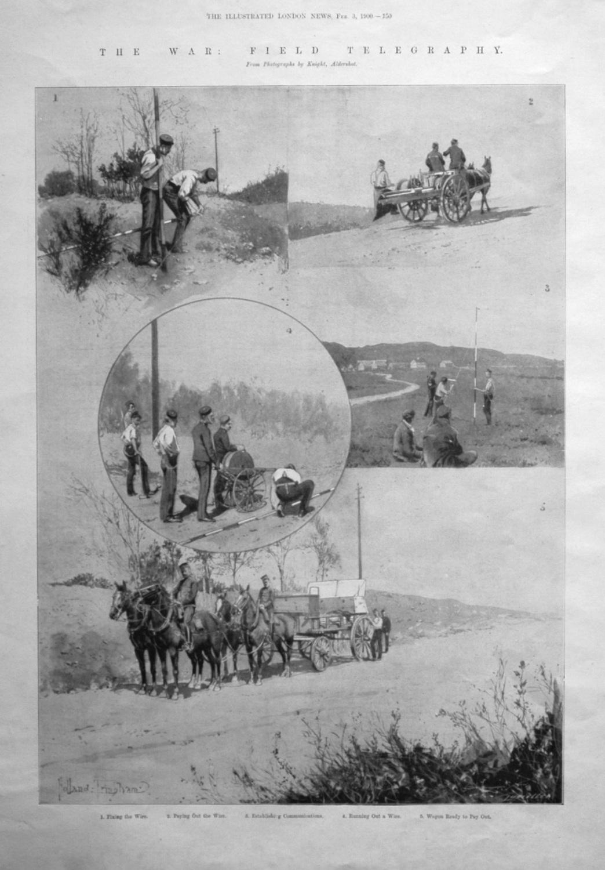 The War : Field Telegraphy. 1900