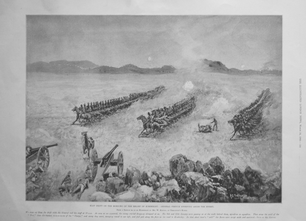 Klip Drift on the Morning of the Relief of Kimberley : General French Sweep