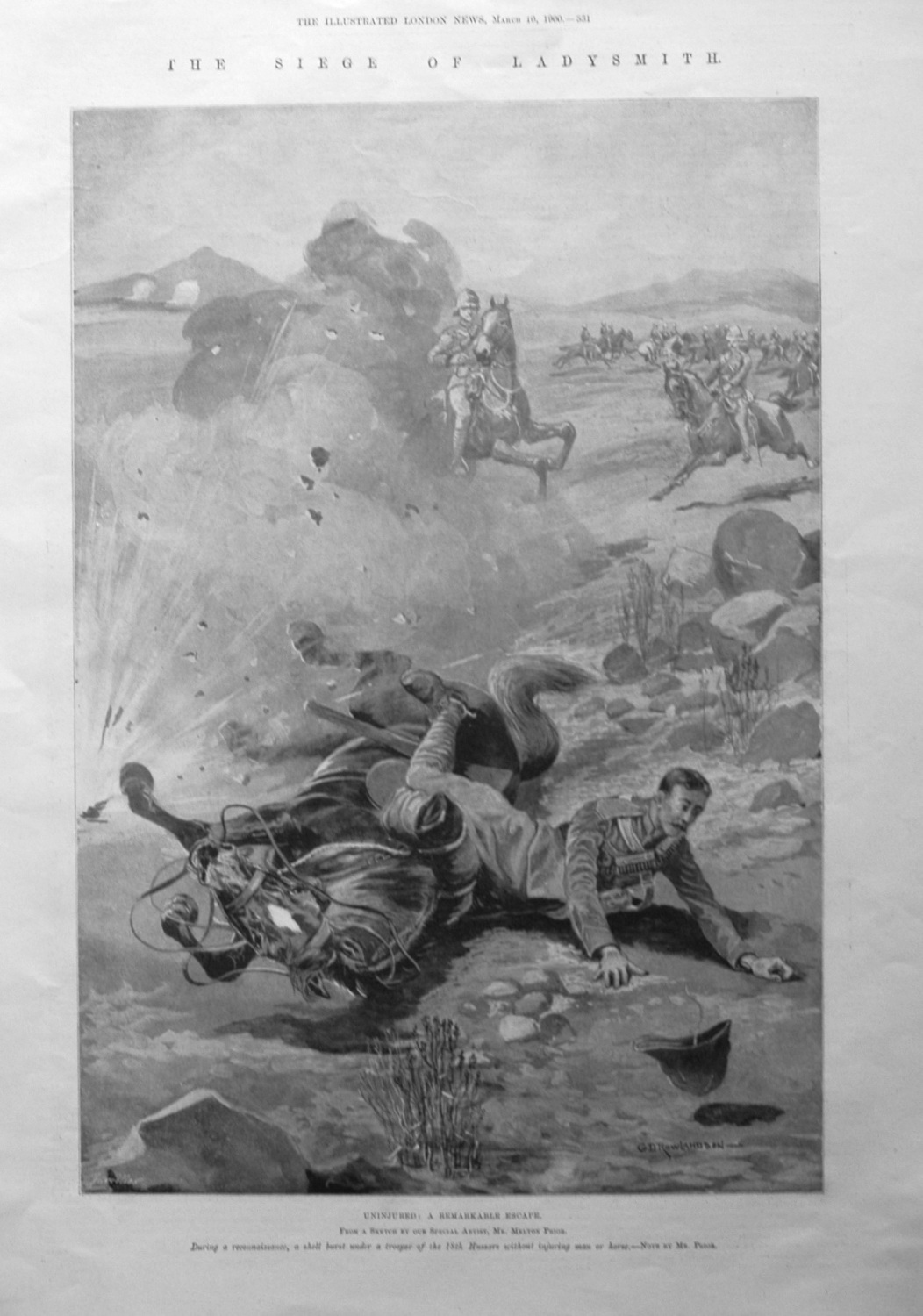 The Siege of Ladysmith. Uninjured : A Remarkable Escape. 1900.
