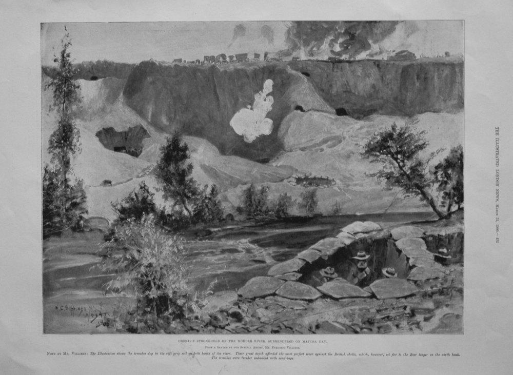 Cronje's Stronghold on the Modder River, Surrendered on Majuba Day. 1900