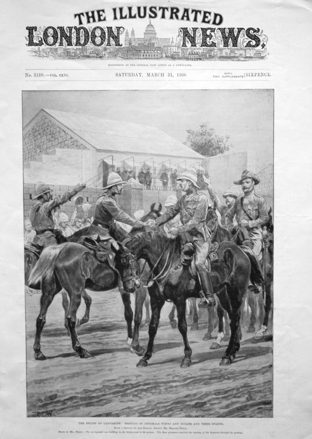 The Relief of Ladysmith : Meeting of Generals White and Buller and their  S