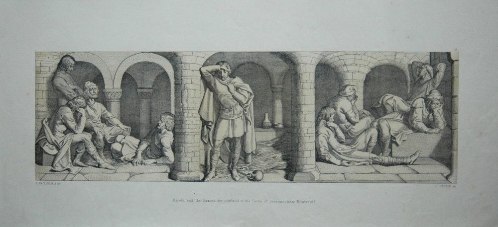 Harold and the Saxons are confined in the Castle of Beaurain, near Montreuil.