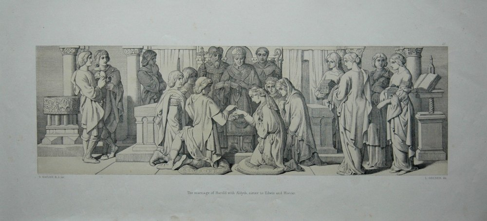 The marriage of Harold with Aldyth, sister to Edwin and Morcar.
