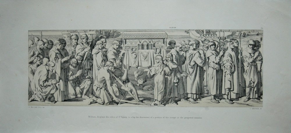 William, displays the relics of St. Valery, to allay the discontent of a po