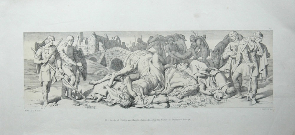 The death of Tostig and Harold Hardrada, after the battle of Stamford Bridg