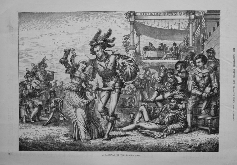 A Carnival in the Middle Ages. 1884