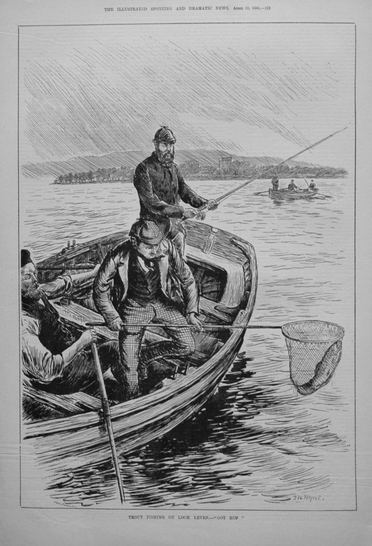 Trout Fishing on Loch Leven.-