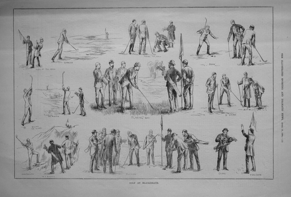 Golf at Blackheath. 1884