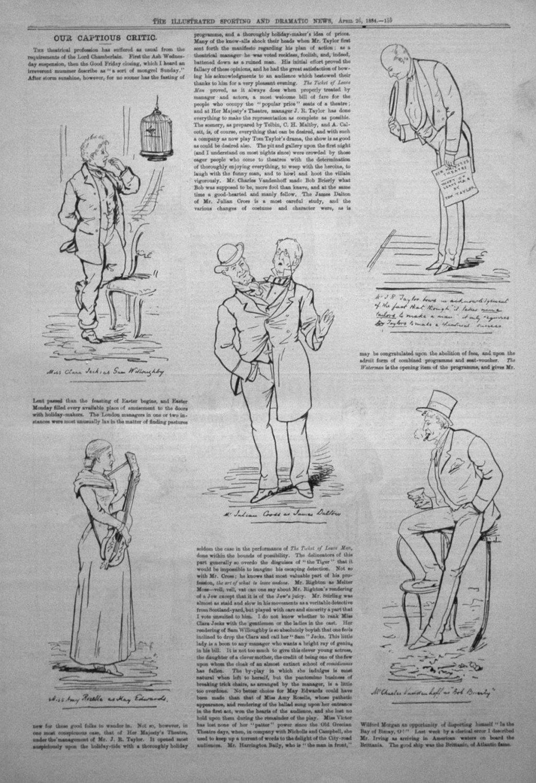Our Captious Critic, April 26th 1884.
