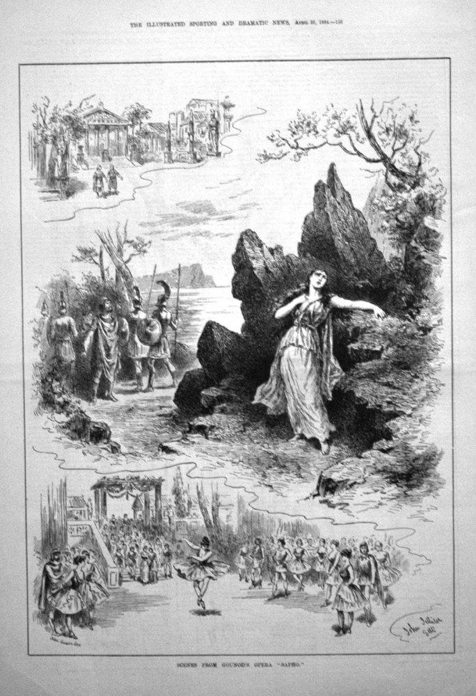"Scenes from Gounod's Opera ""Sapho."""