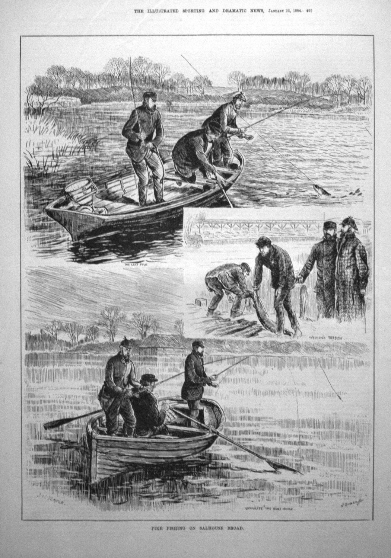 Pike Fishing on Salhouse Broad. 1884