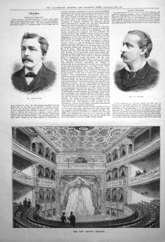 The New Prince's Theatre. 1884