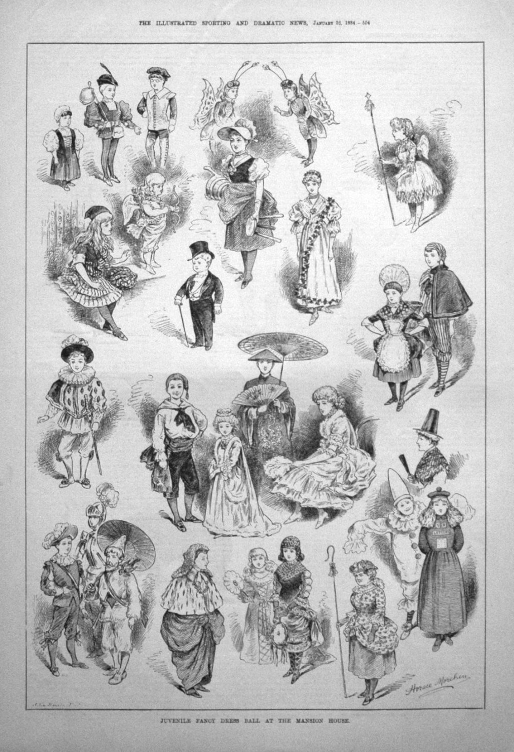 Juvenile Fancy Dress Ball at the Mansion House. 1884