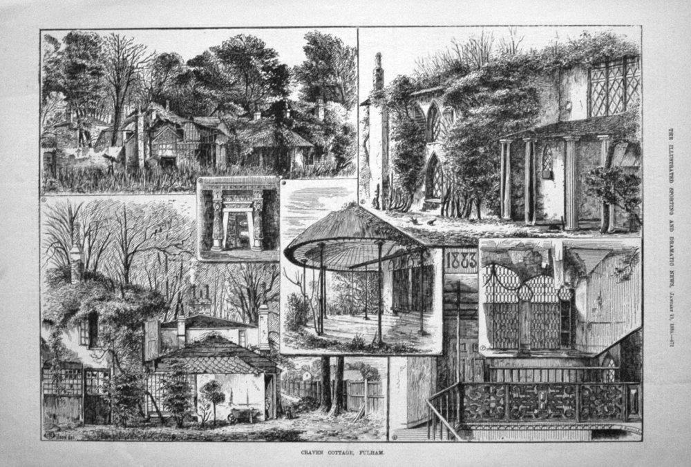 Craven Cottage, Fulham. 1884
