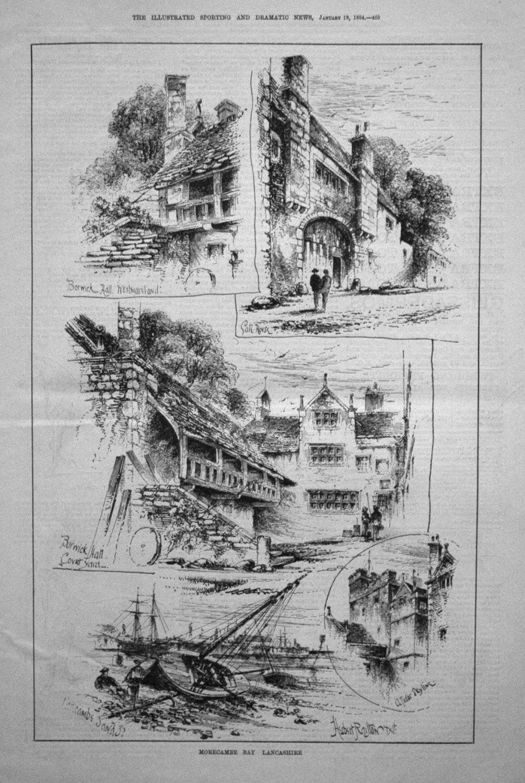Morecambe Bay Lancashire. 1884.