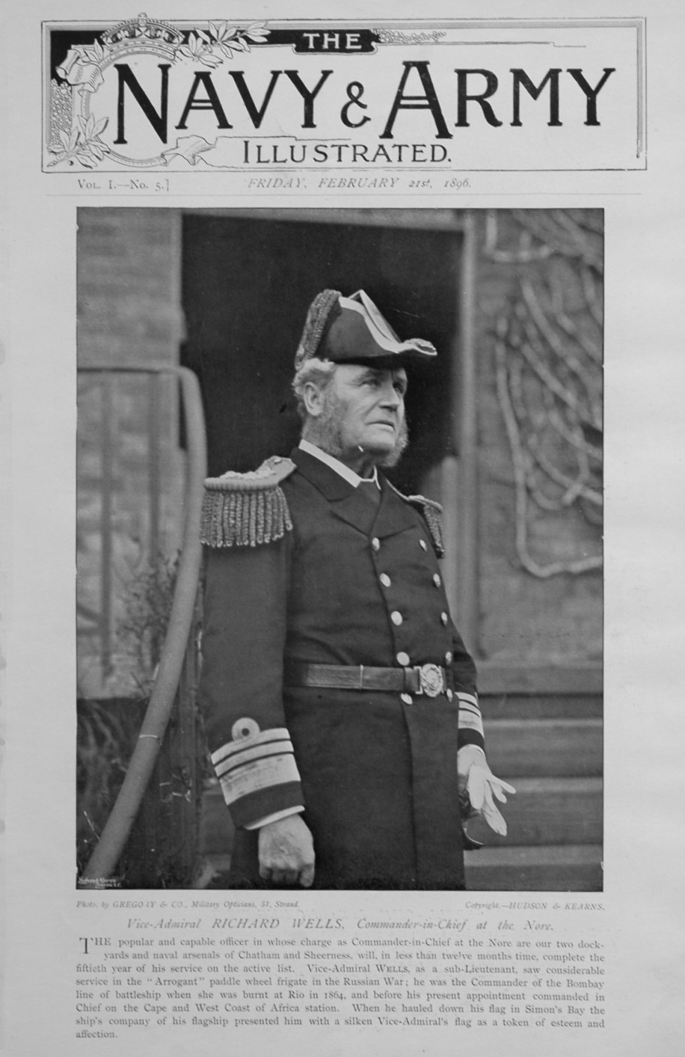 Navy & Army Illustrated. February 21st 1896. (Special No)