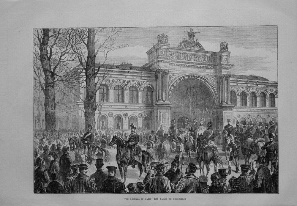 The Germans in Paris : The Palais De L'industrie.