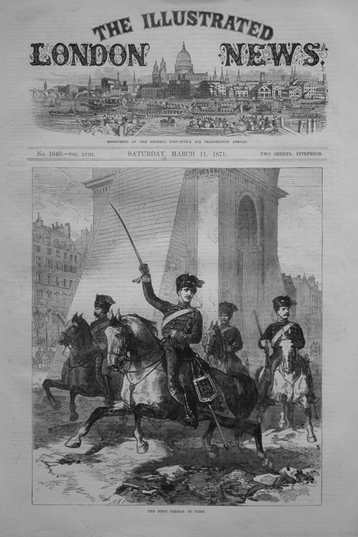 The First German in Paris. 1871
