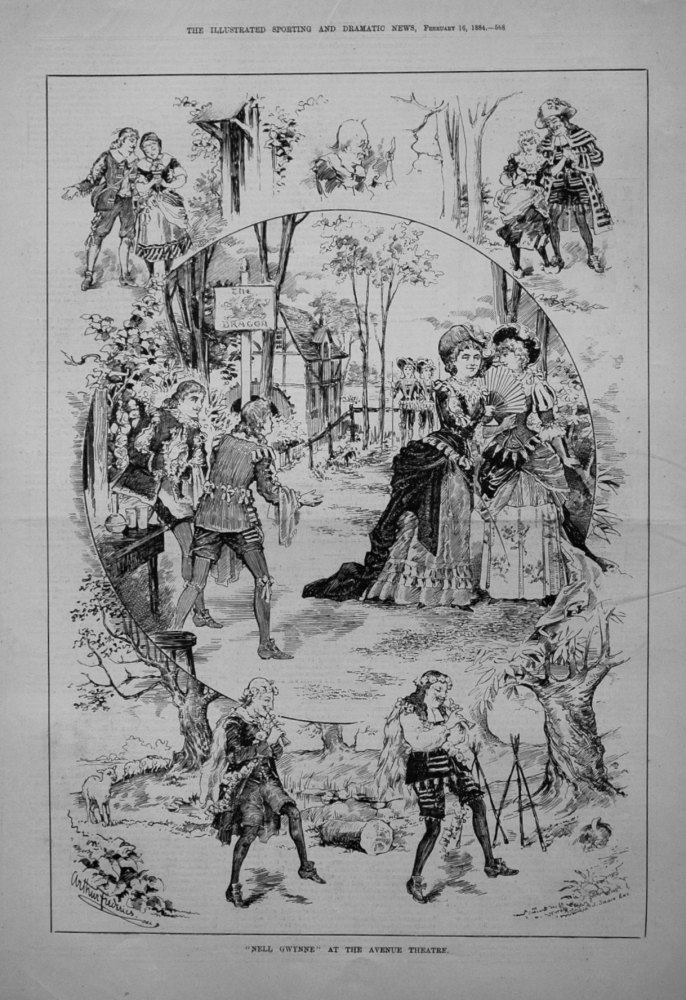 """Nell Gwynne"" at the Avenue Theatre. 1884"