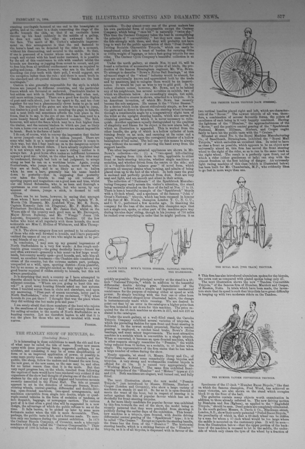 The Stanley Show of Bicycles. 1884
