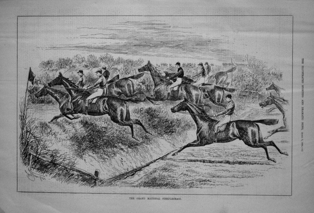 The Grand National Steeplechase. 1884