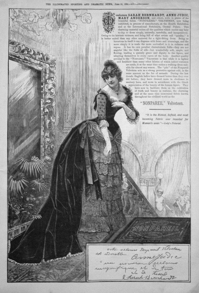 """""""Nonpareil"""" Velveteen. 1884"""