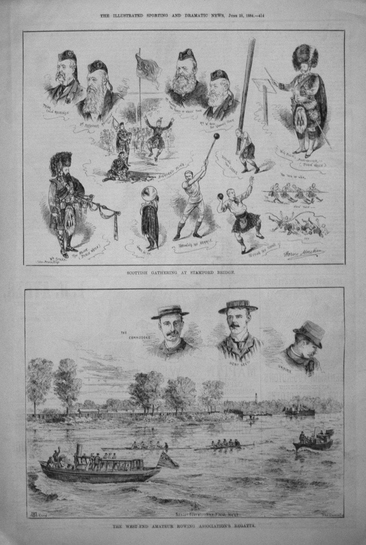 Scottish Gathering at Stamford Bridge. 1884