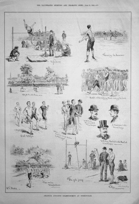 Amateur Athletic Championships at Birmingham. 1884