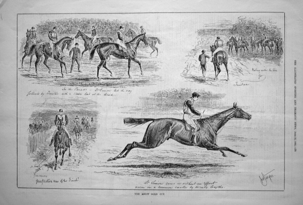 The Ascot Gold Cup. 1884